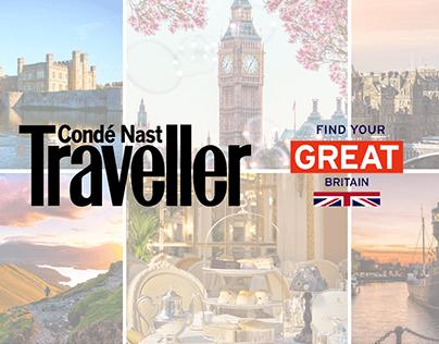 Conde Nast Traveller x Visit Britain UI UX Microsite