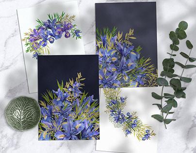 Watercolor Irises