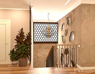 KSD-проект. Дизайн интерьера лестничной площадки