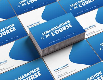 Semi-marathon de l'Ourse | Illustration, mise en page