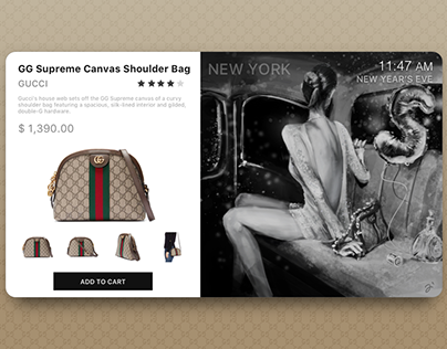 Designer Bag E-Commerce page