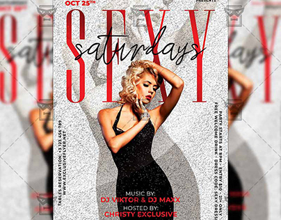 Sexy Saturdays Flyer - Club A5 Template