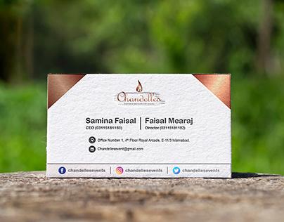Business Card Design | Chandelles Events
