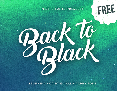 Back to Black - Free Creative Script Font