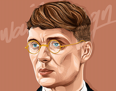 Thomas Shelby (Peaky Blinders) vector art portrait