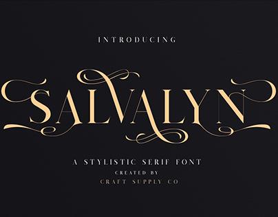 Salvalyn - Stylistic Serif Font (Free Download)