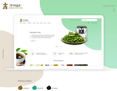 Tetique - Website Redesign