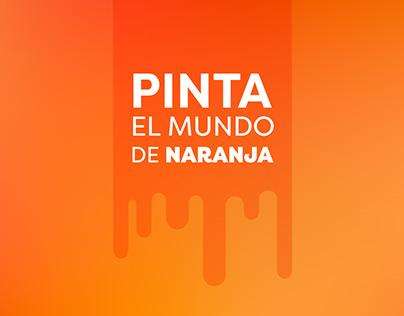 Transmedia campaign: PInta el Mundo de Naranja