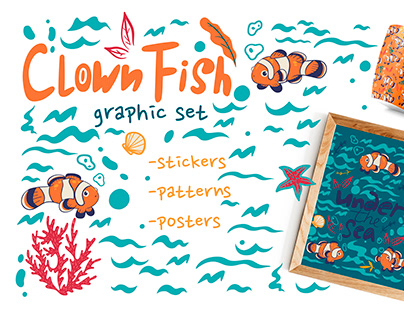 Clown fish pattern collection
