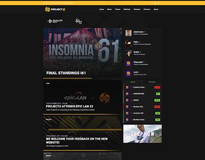 ProjectX - Esports Team Website