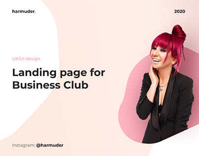 Landing page for Business Club