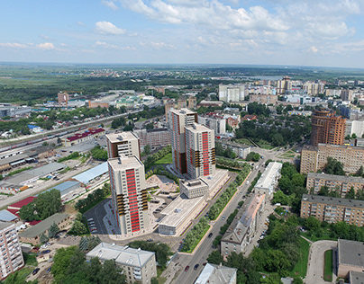 """3D Визуализация и фотомонтаж жилого комплекса """"Фамилия"""""""