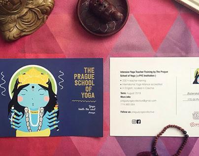Prague Yoga Collective flyer design
