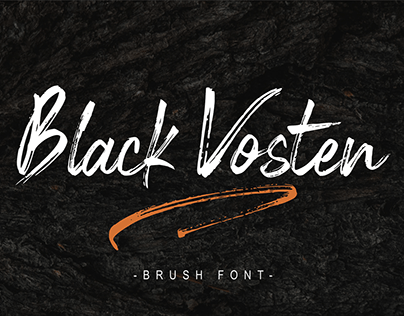 Black Vosten || FREE Brush Font