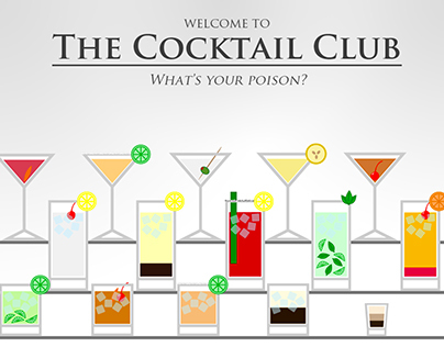 Cocktail Club - an Interactive Infograph