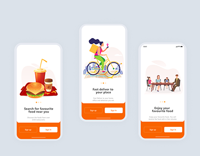 Onboarding delivery app