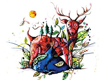 ilustraciones para Mountainside Orgánicos