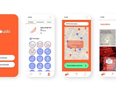 Touski : application mobile