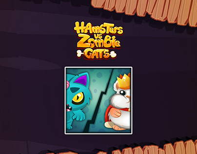 Hamsters vs zombie cats-mobile game