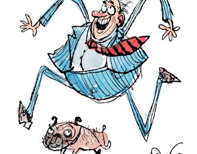 Happy man happy pug