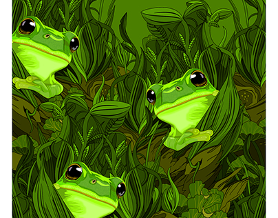 Green Jungle of Frogs