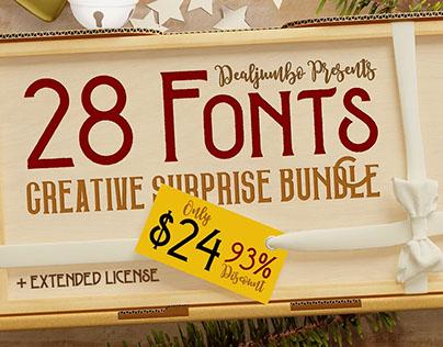 Creative Surprise Bundle vol.1 – 28 Fonts