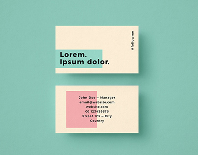 Minimalist Colorful Free Business Card Template