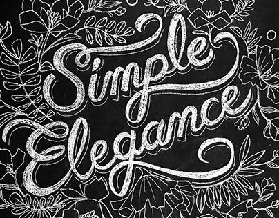 Simple Elegance chalk mural