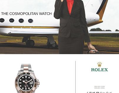 Magazine Advertisement Design Rolex Watch