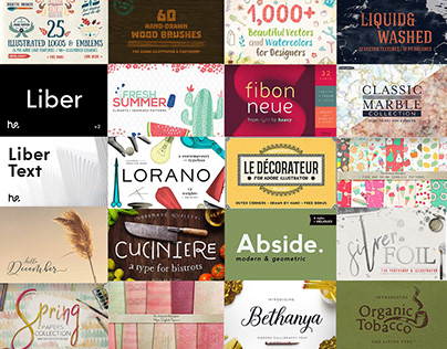 The Handmade Bundle: 2855 Fonts & Elements