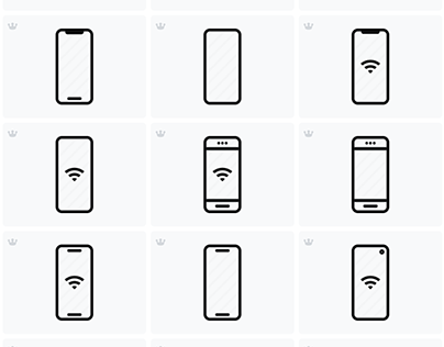 Outline Smartphone Icons