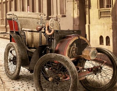 Auto antiguo - Desarrollo de Fondo Fotográfico