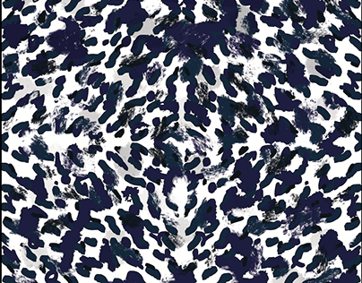 """""""DeepWater""""Pattern Design. Hand and digital painting."""