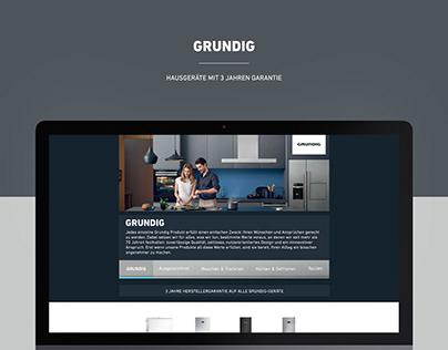 GRUNDIG   Webpage and Wakescreen