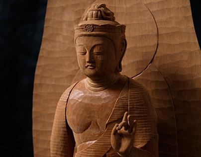 Standing Kannon Bodhisattva (観音菩薩像)