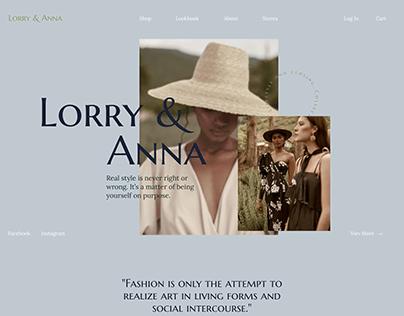 Fashion brand website (concept)