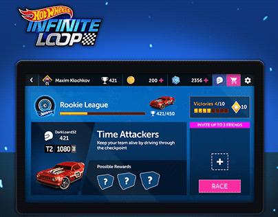 """Hot Wheels infinite loop"" game UI/UX design"