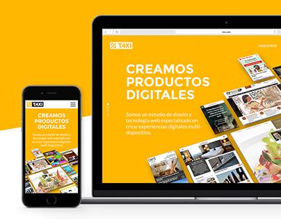 T4XI - Website redesign