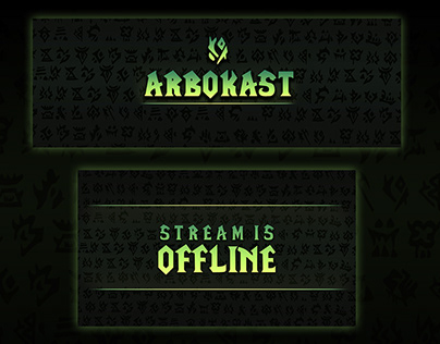 Twitch overlay in ork style