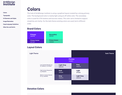 UI/UX: Styleguide for an Education Platform
