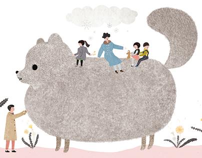 Book illustration 1 (for prenatal care) mama
