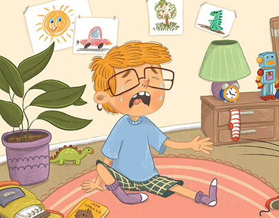 """Illustrations for the children's book """"I'm give up"""""""