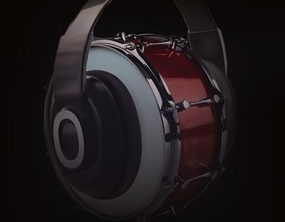 Advertising - beat headphones - manipulate