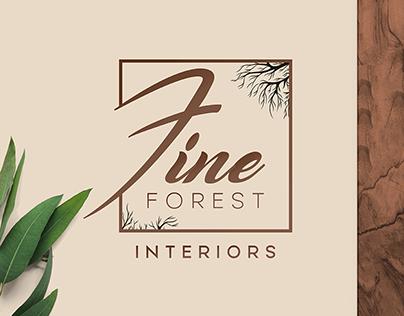 Fine Forest - Emblem Logo Design - Furniture Brand