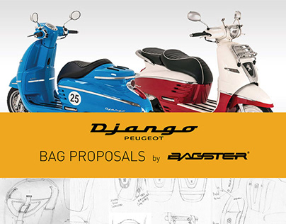 PEUGEOT DJANGO ended to B-BEAUTY bag for BAGSTER