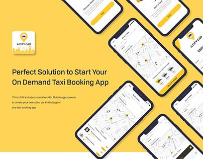 A City Cab - Taxi Driver App UI Kit - Uber Similar App