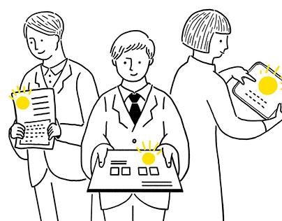 """AWRD.com """"Japan Open Innovation Award"""" Illustration of"""