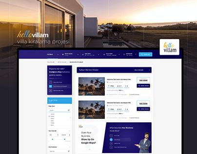 Hellovillam, Villa Kiralama UI / UX Tasarımı