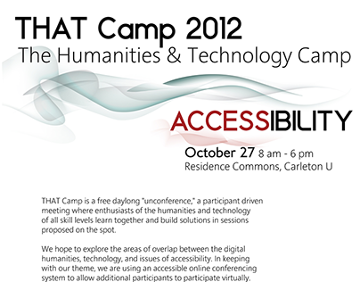 Accessible Poster (THAT Camp)