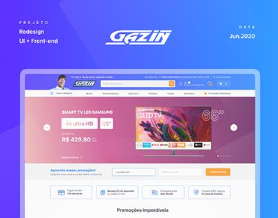 Gazin - Novo site